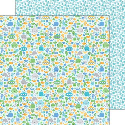 Doodlebug Design - Anchors Aweigh Collection - 12 x 12 Double Sided Paper - Sea Life