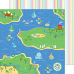 Doodlebug Design - Anchors Aweigh Collection - 12 x 12 Double Sided Paper - Fishermans Cover
