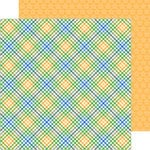 Doodlebug Design - Anchors Aweigh Collection - 12 x 12 Double Sided Paper - Nautical Plaid