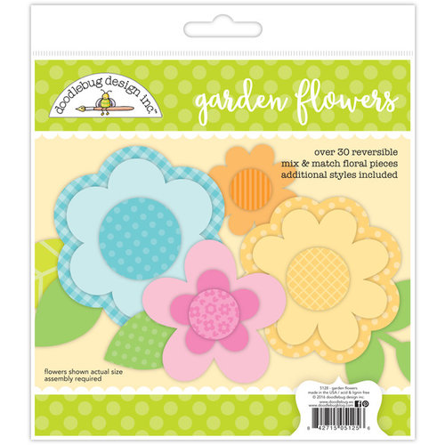 Doodlebug Design - Spring Garden Collection - Craft Kit - Garden Flowers