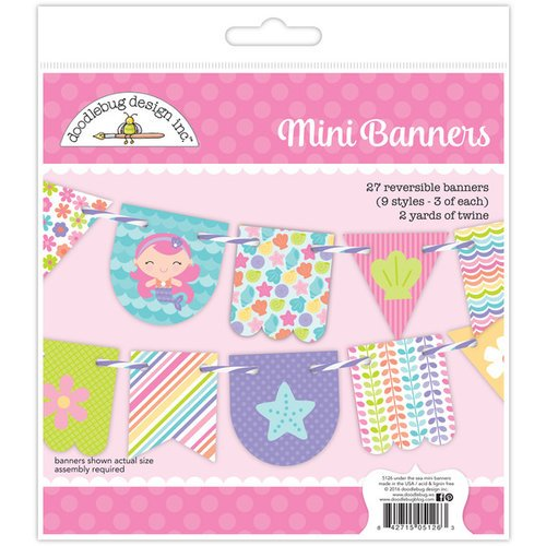 Doodlebug Design - Under the Sea Collection - Craft Kit - Mini Banners