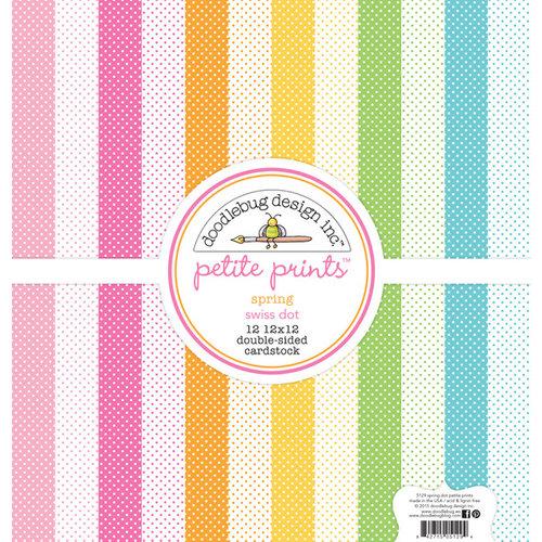 Doodlebug Design - Spring Garden Collection - 12 x 12 Paper Pack - Swiss Dot Petite Print Assortment