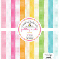 Doodlebug Design - Spring Garden Collection - 12 x 12 Paper Pack - Swiss Dot Petite Print Assortment