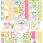 Doodlebug Design - Bunnyville Collection - 12 x 12 Paper Pack