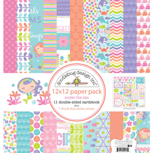 Doodlebug Design - Under the Sea Collection - 12 x 12 Paper Pack