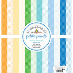 Doodlebug Design - Anchors Aweigh Collection - 12 x 12 Paper Pack - Swiss Dot Petite Print Assortment