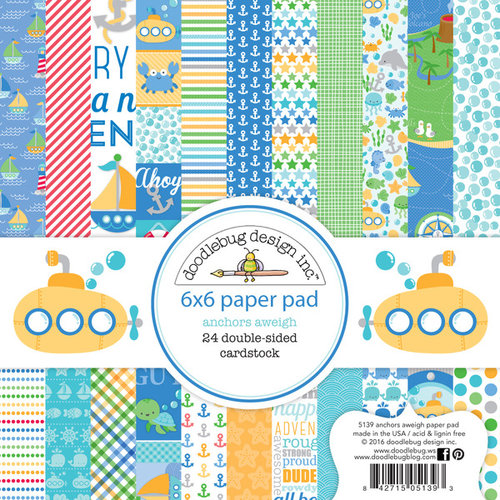 Doodlebug Design - Anchors Aweigh Collection - 6 x 6 Paper Pad