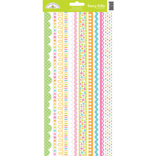 Doodlebug Design - Spring Garden Collection - Cardstock Stickers - Fancy Frills