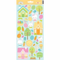 Doodlebug Design - Bunnyville Collection - Cardstock Stickers - Icons