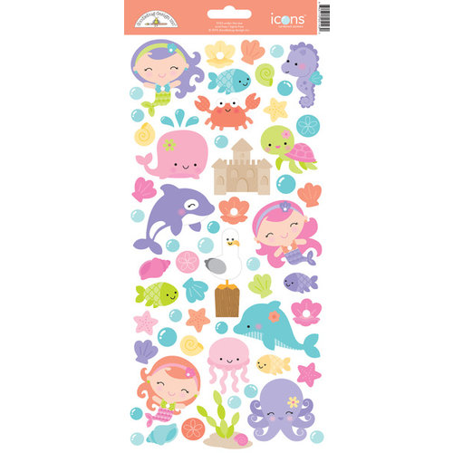 Doodlebug Design Under The Sea Cardstock Stickers