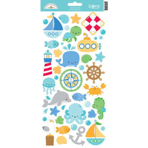 Doodlebug Design - Anchors Aweigh Collection - Cardstock Stickers - Icons