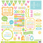 Doodlebug Design - Spring Garden Collection - 12 x 12 Cardstock Stickers - This and That