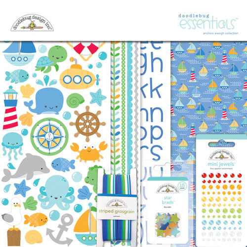 Doodlebug Design - Anchors Aweigh Collection - Essentials Kit