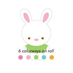 Doodlebug Design - Bunnyville Collection - Cardstock Stickers - Sweet Rolls - Mini Icons - Bunnies