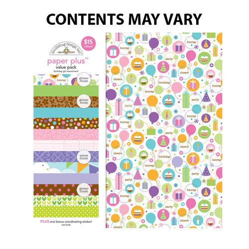 Doodlebug Design - Paper Plus Value Pack -Birthday Girl