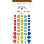 Doodlebug Design - Puppy Love Collection - Matte Sprinkles - Self Adhesive Enamel Dots - Dog Assortment