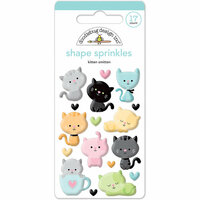 Doodlebug Design - Kitten Smitten Collection - Sprinkles - Self Adhesive Enamel Shapes