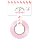 Doodlebug Design - Fun in the Sun Collection - Washi Tape - Flock of Flamingos