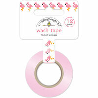 Doodlebug Design - At the Zoo Collection - Washi Tape - Flock of Flamingos
