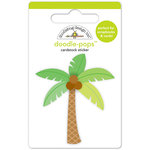 Doodlebug Design - Fun in the Sun Collection - Doodle-Pops - 3 Dimensional Cardstock Stickers - Paradise Palm