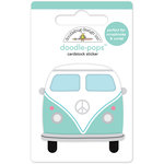 Doodlebug Design - Fun in the Sun Collection - Doodle-Pops - 3 Dimensional Cardstock Stickers - Caravan