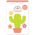 Doodlebug Design - Fun in the Sun Collection - Doodle-Pops - 3 Dimensional Cardstock Stickers - Desert Flower