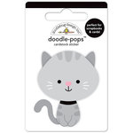 Doodlebug Design - Kitten Smitten Collection - Doodle-Pops - 3 Dimensional Cardstock Stickers - Stormy