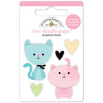 Doodlebug Design - Kitten Smitten Collection - Doodle-Pops - 3 Dimensional Cardstock Stickers - Bitty Kitties Mini