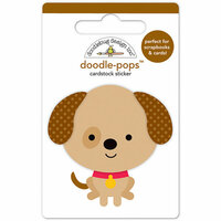 Doodlebug Design - Puppy Love Collection - Doodle-Pops - 3 Dimensional Cardstock Stickers - Sparky