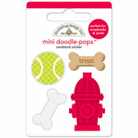 Doodlebug Design - Puppy Love Collection - Doodle-Pops - 3 Dimensional Cardstock Stickers - Puppy Play Mini