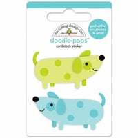 Doodlebug Design - Puppy Love Collection - Doodle-Pops - 3 Dimensional Cardstock Stickers - Teenie Weenie Dogs