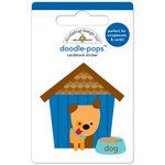 Doodlebug Design - Puppy Love Collection - Doodle-Pops - 3 Dimensional Cardstock Stickers - Huey's House