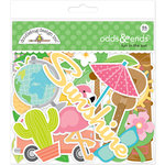 Doodlebug Design - Fun in the Sun Collection - Odd and Ends - Die Cut Cardstock Pieces