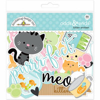 Doodlebug Design - Kitten Smitten Collection - Odd and Ends - Die Cut Cardstock Pieces