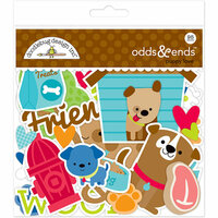 Doodlebug Design - Puppy Love Collection - Odd and Ends - Die Cut Cardstock Pieces
