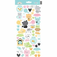 Doodlebug Design - Kitten Smitten Collection - Cardstock Stickers - Icons