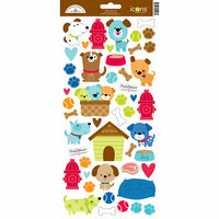 Doodlebug Design - Puppy Love Collection - Cardstock Stickers - Icons