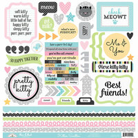 Doodlebug Design - Kitten Smitten Collection - 12 x 12 Cardstock Stickers - This and That