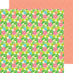 Doodlebug Design - Fun in the Sun Collection - 12 x 12 Double Sided Paper - Island Blooms