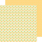 Doodlebug Design - Fun in the Sun Collection - 12 x 12 Double Sided Paper - Pineapple Crush