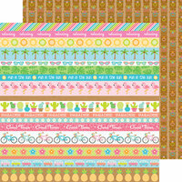 Doodlebug Design - Fun in the Sun Collection - 12 x 12 Double Sided Paper - Tiki Time