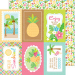 Doodlebug Design - Fun in the Sun Collection - 12 x 12 Double Sided Paper - Fun in the Sun