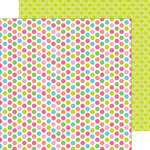 Doodlebug Design - Fun in the Sun Collection - 12 x 12 Double Sided Paper - Polka-Dot Party