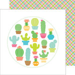 Doodlebug Design - Fun in the Sun Collection - 12 x 12 Double Sided Paper - Paradise Plaid