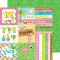 Doodlebug Design - Fun in the Sun Collection - 12 x 12 Double Sided Paper - Island Tropics