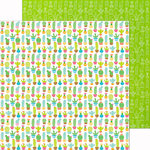 Doodlebug Design - Fun in the Sun Collection - 12 x 12 Double Sided Paper - Cactus Garden