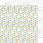 Doodlebug Design - Kitten Smitten Collection - 12 x 12 Double Sided Paper - Pretty Kitties