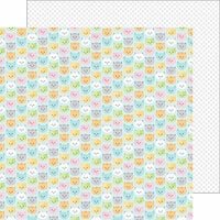 Doodlebug Design - Kitten Smitten Collection - 12 x 12 Double Sided Paper - Pretty Kitties