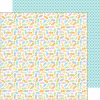 Doodlebug Design - Kitten Smitten Collection - 12 x 12 Double Sided Paper - Bitty Bones