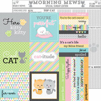 Doodlebug Design - Kitten Smitten Collection - 12 x 12 Double Sided Paper - Morning Mews